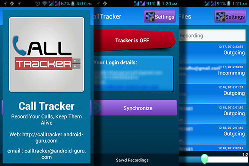 Call Tracker : Mobile Application
